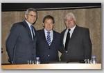 Vice-Pres. CREA Eng. Jolindo Renno, Presidente CREA Eng.  Kurimori e Presidente AREA Eng. Antonio Carlos
